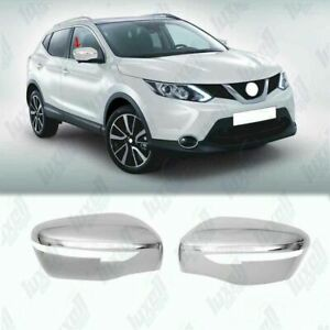 Fits Nissan Rogue 2014-2020 Abs Wing Chrome Mirror Cover 2Pcs