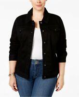 STYLE & CO USA XL 16 18 black denim jacket stylish *TAG* WORN ONCE EX CONDITION