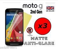 3x HQ MATTE ANTI GLARE SCREEN PROTECTOR COVER GUARD FOR MOTOROLA MOTO G 2nd Gen