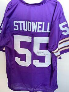 Scott Studwell Signed Minnesota Vikings Jersey Beckett BAS COA Illinois Illini