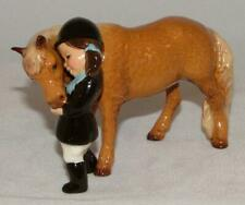 Hagen-Renaker Miniature Ceramic Animal Figure Girl with Pony 3170