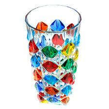 Murano Glass Drinking Artisan Long Glass Tumbler Multi Coloured Hand Painted