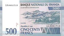 Rwanda 500 Francs 1994 Unc pn 23a