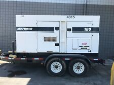 Whisperwatt Multiquip 180 kVa 144,000 Watt Generator with Full Trailer