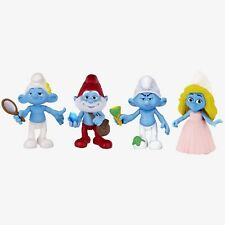 Smurfs Movie Papa, Grouchy, Smurfette & Vanity Collectibles  (4 Pack)