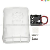 Clear ABS Case Enclosure Box with Cooling Fan + Heat Sink Kit for Raspberry Pi 3