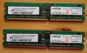2x 1GB DDR-333 DIMM PC2700R ECC 184 Pin MT18VDDF12872Y-335D3 Crucial CT12872Y335