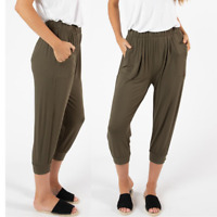 3/4 Pant Tokyo by Betty Basics Plus Sizes 10 12 14 16 18 20 22 Khaki Casual