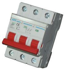 3-poliger Hauptschalter 100A Kompaktschalter für DIN-Hutschiene Trennschalter
