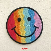 Cute Smiley colourful Iron on Sew on Embroidered Patch #1680
