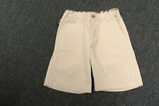 BURBERRY Khaki Cotton Flat Zip Front Classic Solid Casual Shorts Sz 5 Y GG0869