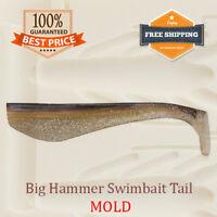 Swimbait Tail Shad Fishing Mold Lure Bait Soft Plastic 56-100 mm