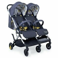 Brand new Cosatto woosh double stroller Fika Forest with raincover birth to 15kg