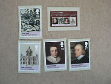 Age of the Stuarts, 2010, PHQ Stamp Cards, FDI Special H/S Back, set 5 incl m/s