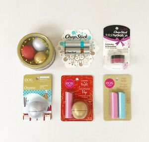EOS Lip Balm & Chapstick Lip First Snow, Cherry, Coconut, Champagne