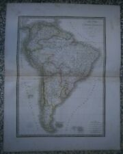 Lapie's map SOUTH AMERICA, Atlas Universel, Paris, 1829