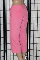 G.H.Bass & Co. Women's Size 4 Pink Cotton Capri/Cropped Lightweight Pants EUC