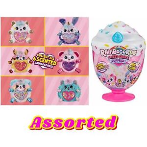 Rainbocorn Sweet Shake Surprise Zuru Talking Plush Toy Assorted Slime Scented