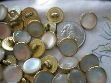 13mm Western Shirt Buttons 48pcs Wholesale bulk gold gilt Poly Pearl 20L shank