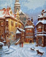 Counted Cross Stitch Kit PALETTE - SNOW IS FALLING