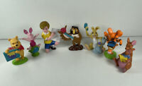 Winnie The Pooh Figures Vintage Disney 1999 X 7 Bundle. Used.