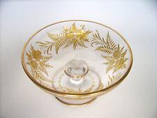 Glas Schale wohl Moser Karlsbad Intaglio cut Gold Bohemian glass Design c.1900