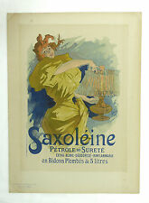 Jules Cheret French Saxoleine Petrol Ad Rare Poster Woman with Lamp Art Nouveau