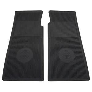 Jaguar E-Type Footwell Floor mats Moulded rubber Black Series 3 1971-1975