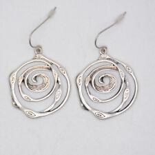 premier designs vintage women jewelry silver swirl drop dangle earrings fishhook