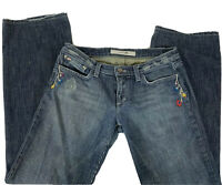 Joe's Jeans Womens Lov Bootcut Sz 29 x 30 Distressed Embroidered Flower Made USA
