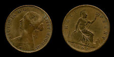 Queen Victoria half penny 1862  - rame / copper