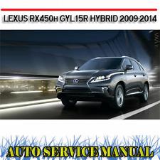 LEXUS RX450h GYL15R HYBRID 2009-2014 WORKSHOP SERVICE REPAIR MANUAL ~ DVD