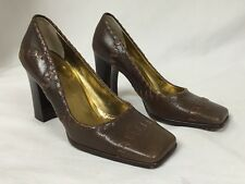 D&G Dolce and Gabbana Brown Leather Heels NWOB Italy, Size 7