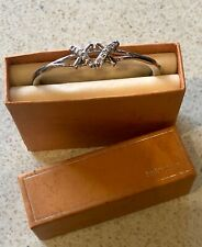 925 Sterling Silver Bracelet Vintage with 2 X's on the front with Cubic Z BNIB