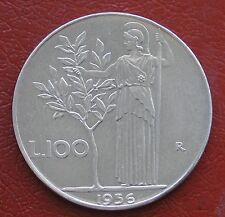 REPUBBLICA ITALIANA MONETA DA 100 LIRE ANNO 1956 MINERVA 1° TIPO ACMONITAL #2