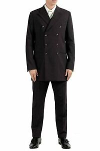 Dolce & Gabbana Men's Wool Brown Double Breasted Three Piece Suit US 38 IT 48