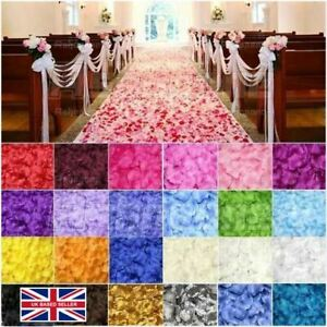 100 Silk Fabric Rose Petals–Wedding Party Table Confetti & Flower Girl Sprinkles
