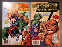 Lot of 2 Heroes Reborn: The Return Part 3 & 4 (1997 Marvel)