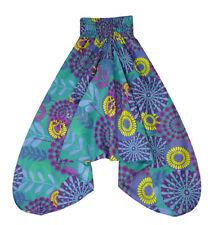 Farbenfrohe Pumphose Shalwar Größe 38-40 buntes Muster aus Baumwolle aus INDIEN