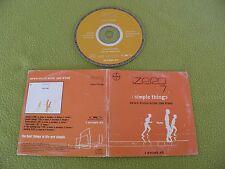 Zero 7 - Simple Things - RARE Israel Israeli Promo Sampler CD Hebrew Printed !