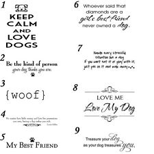 9 pcs Dog Lover Phrase Vinyl Decal Quote For Car Windshield, Window
