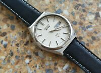 Vintage Seiko Actus SS 21 Jewels  6306 8040 Kanji June 1977 Houndstooth 36mm