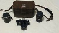Sears TLS 35mm SLR Camera With 55mm Lens, 135mm Lens & Leather Case