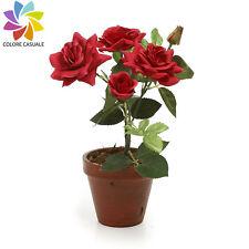 Fiori e piante finte rosa rosa per la decorazione della casa