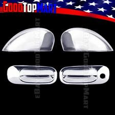 For Dodge CHALLENGER 2009 2010 Chrome Covers Set Full Mirrors+2 Doors w/out PK