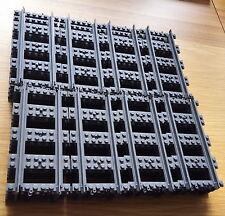 32 x New Genuine Lego Straight Train Tracks Rail @!!@