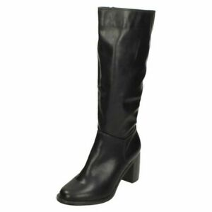 Spot On Damen Knie Hochhackige Stiefel
