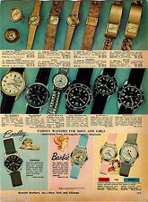1969 ADVERTISEMENT Watches Timex Barbie Bradley Commando Military Dorado