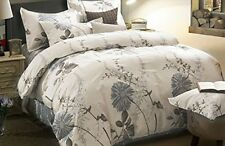 King Size 3 Piece Duvet Cover Pillow Shams Bedding Set 100% Cotton