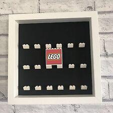 Mini Figures Black Display Case Frame blanc lego brique série lego Logo